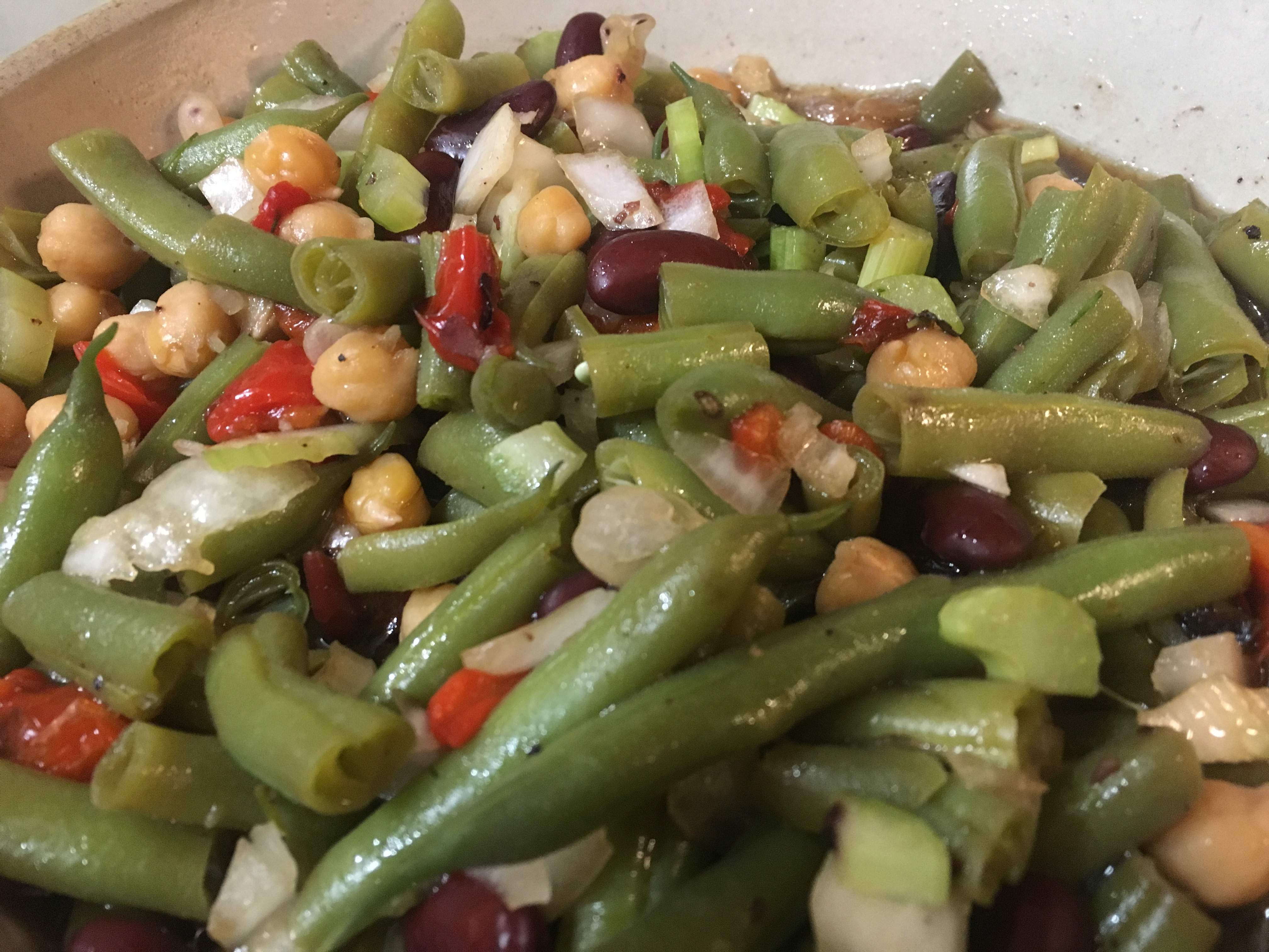 Grandma's Calico Green Bean Salad