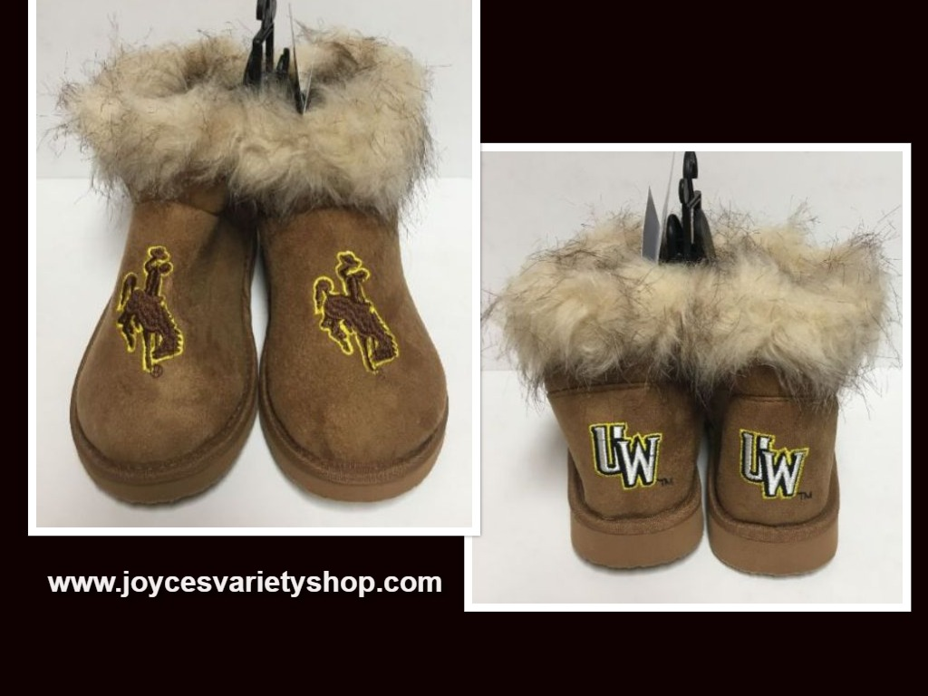 Wyoming University Boots Bucking Horse & Rider UW Logo Women's Many Sizes