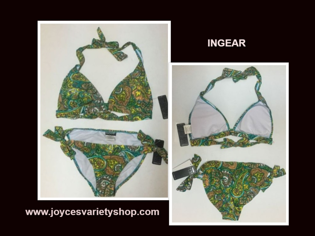 Ingear Fashions Swimwear Swimsuit 2 Piece Top sz M Bottom Sz L