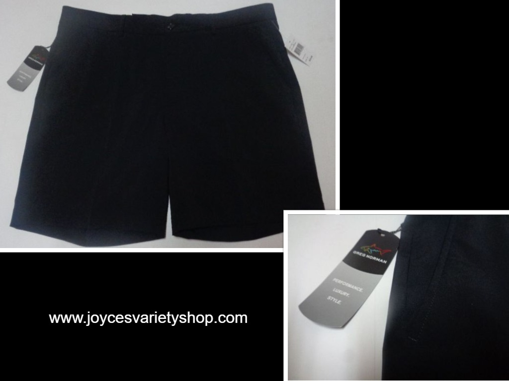 Greg Norman Performance Shorts NWT SZ 36 Black