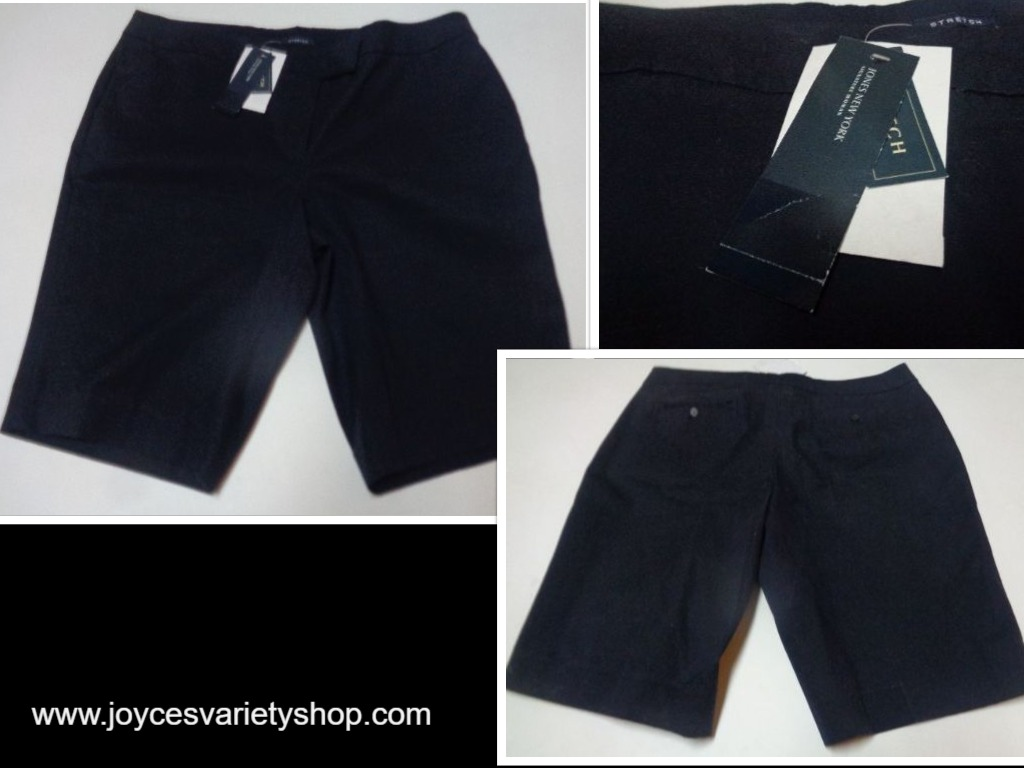 Jones New York Women's Navy Blue Shorts NWT SZ 20 Stretch