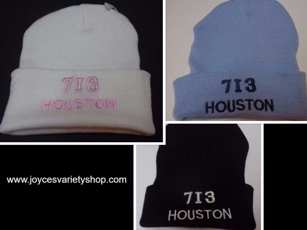 Houston City Area Code 713 BEANIE Hat Various Colors Adult Sz