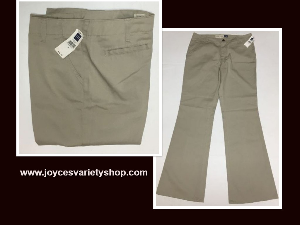 GAP Hipster Trousers Pants Beige Sz 10