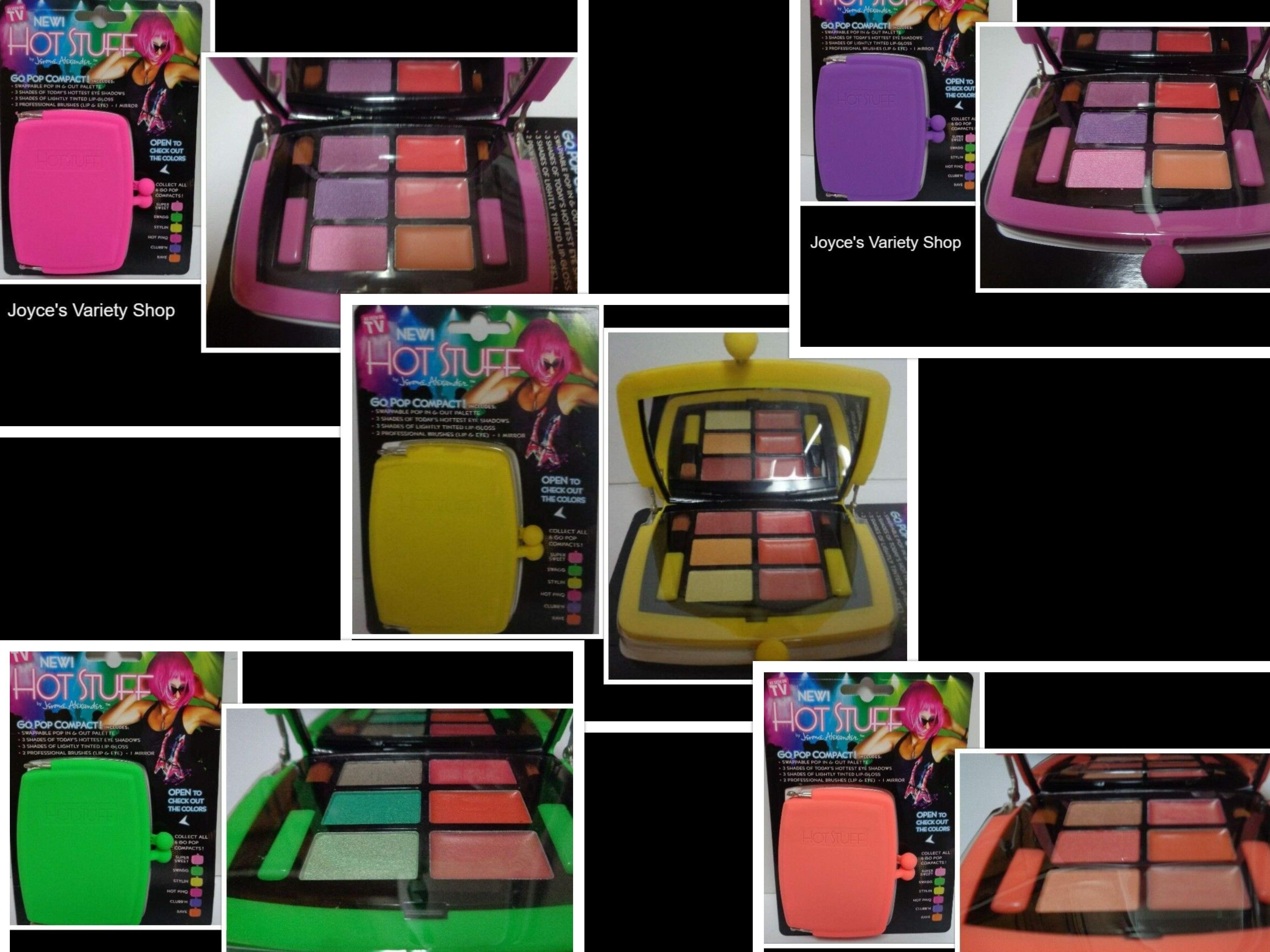 Hot Stuff Eye Shadow Lip Gloss Go Pop Compact Case Many Shades & Colors