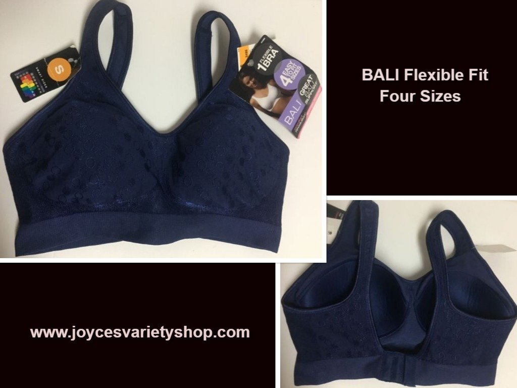 Bali Royal Blue Flexible Fit 4 Sizes Bra NWT Sz S (34/36 B,C,D)