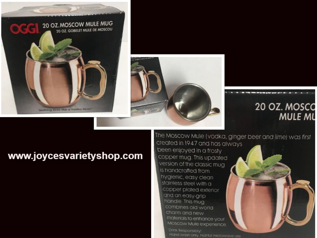 OGGI Moscow Mule Mug Copper Plated Stainless Steel 20 OZ