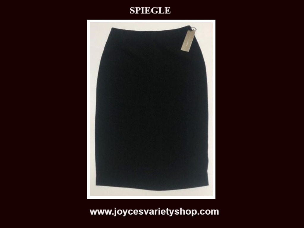Spiegel Women's Dress Skirt Black Sz 8 Below Knee