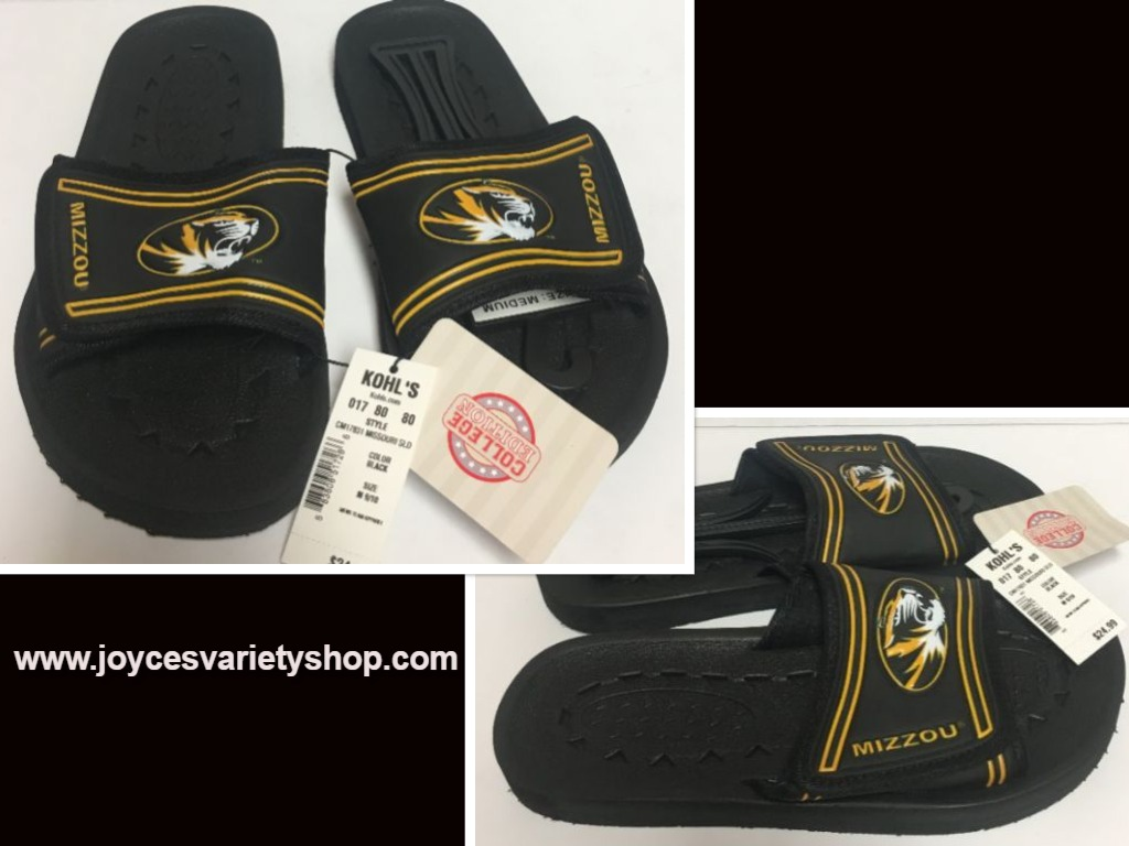 Missouri Tigers Mizzou Sandals Shoe Men's Various Sizes