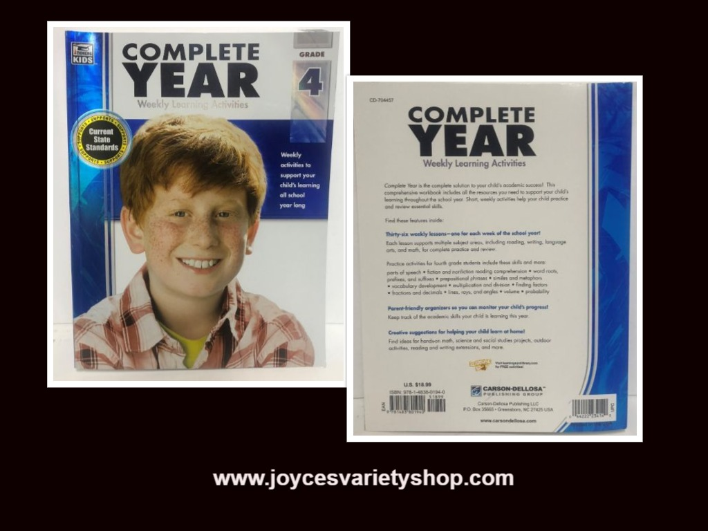 Complete Year Weekly Learning Activities 4th Grade BRAND NEW