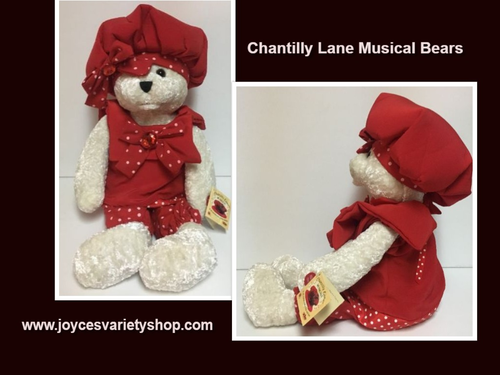 Chantilly Lane Musicals Bear Red Hat Singing Top Of the World 22""