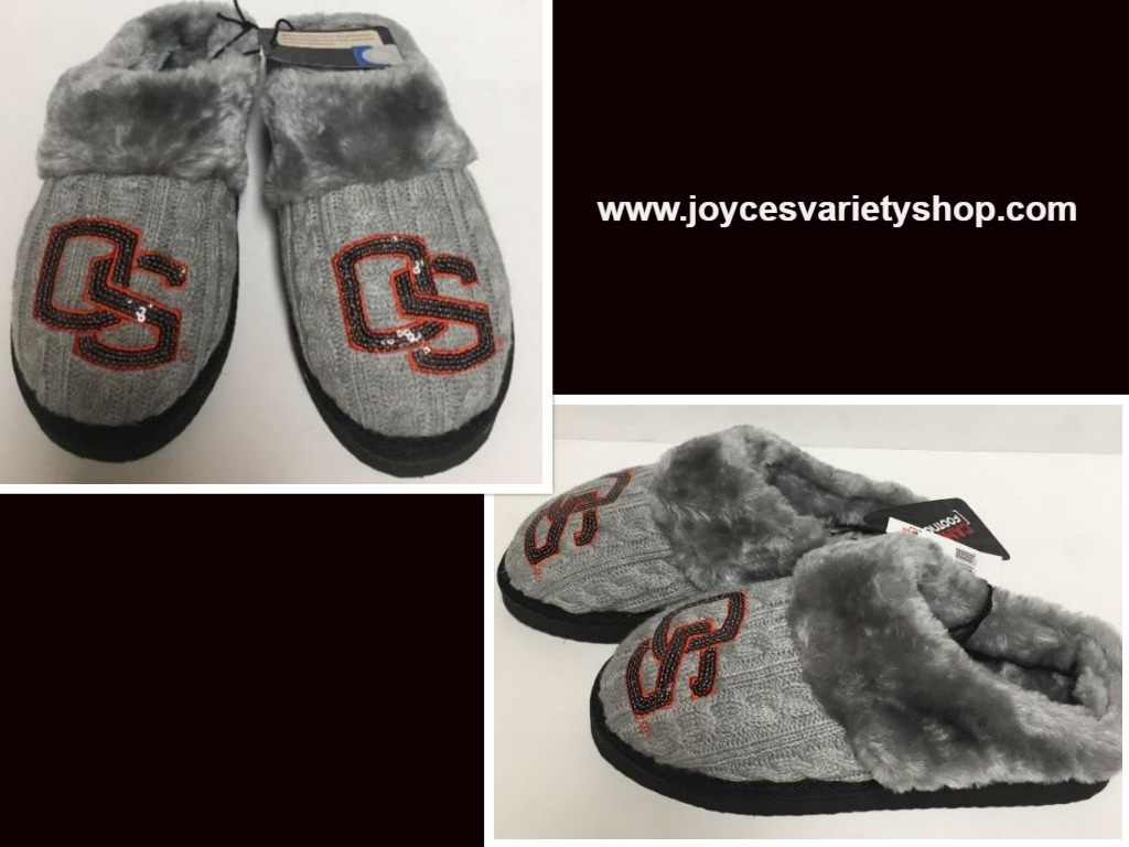 Oregon State University Cushion Memory Slippers Shoe Women's +Sizes