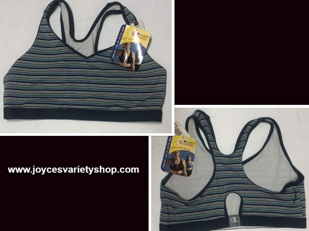 Champion Woman Active Wear Sz 4X Blue Striped