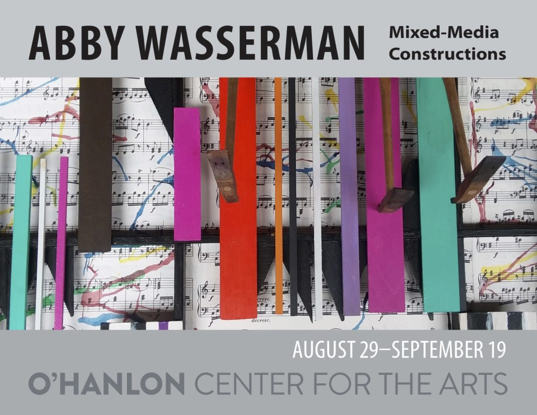 Poster: Abby Wasserman exhibit at O'Hanlon Center for the Arts