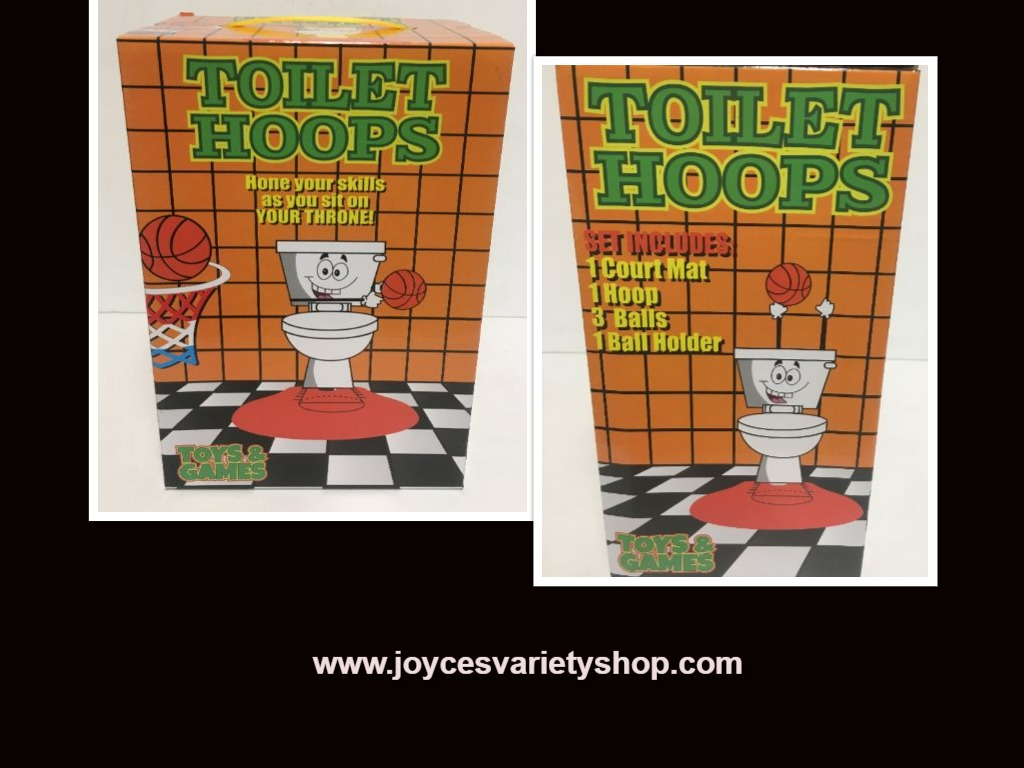 Toilet Hoops Basketball Pass Time Game Toy Gag Gift Ages 3+