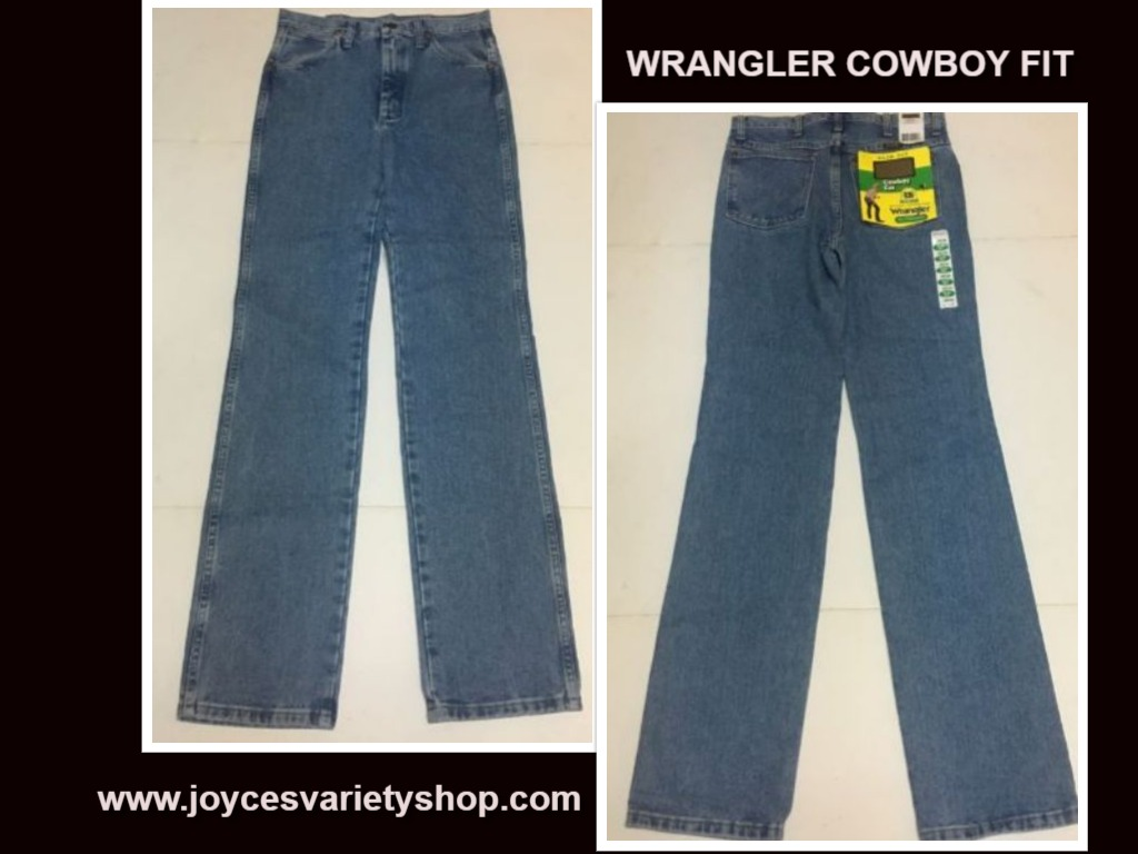 Men's Wrangler 936 Cowboy Cut Blue Jeans Slim Fit SZ 29 x 36 Fits Over Boots