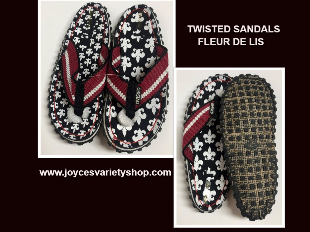 Twisted Fleur De Lis Sandals Shoes Unisex Various Sizes