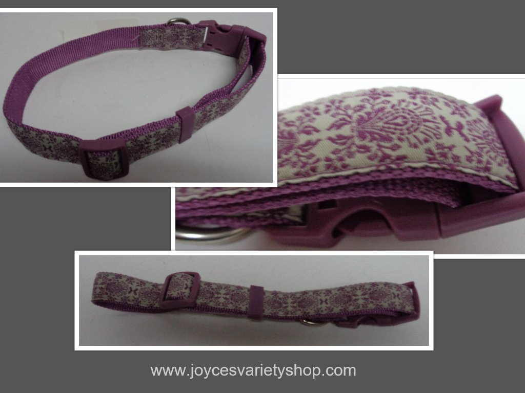 "Purple Designer Fashion Nylon 26"" Dog Collar"