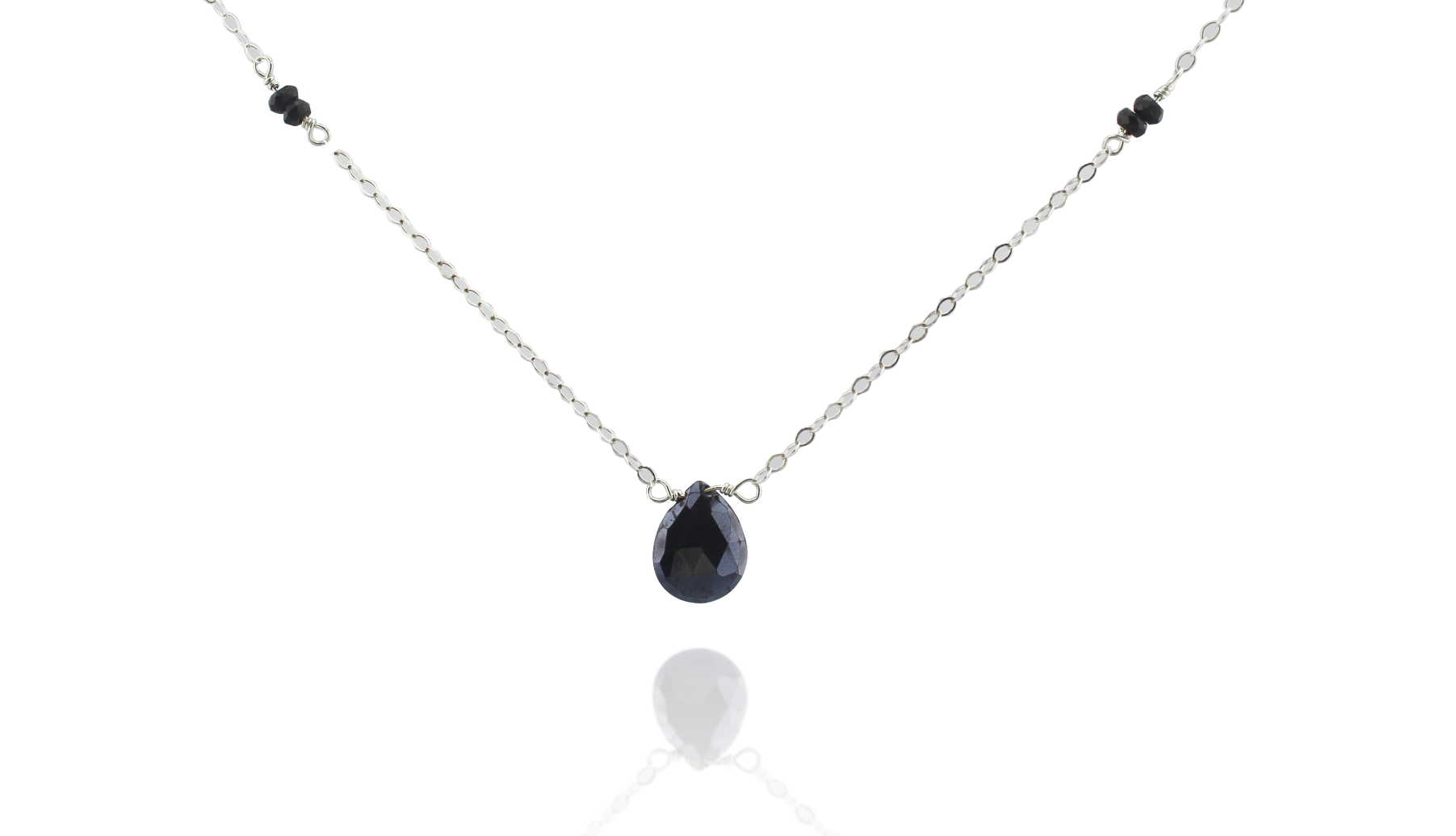Black Spinel + Tourmaline Necklace