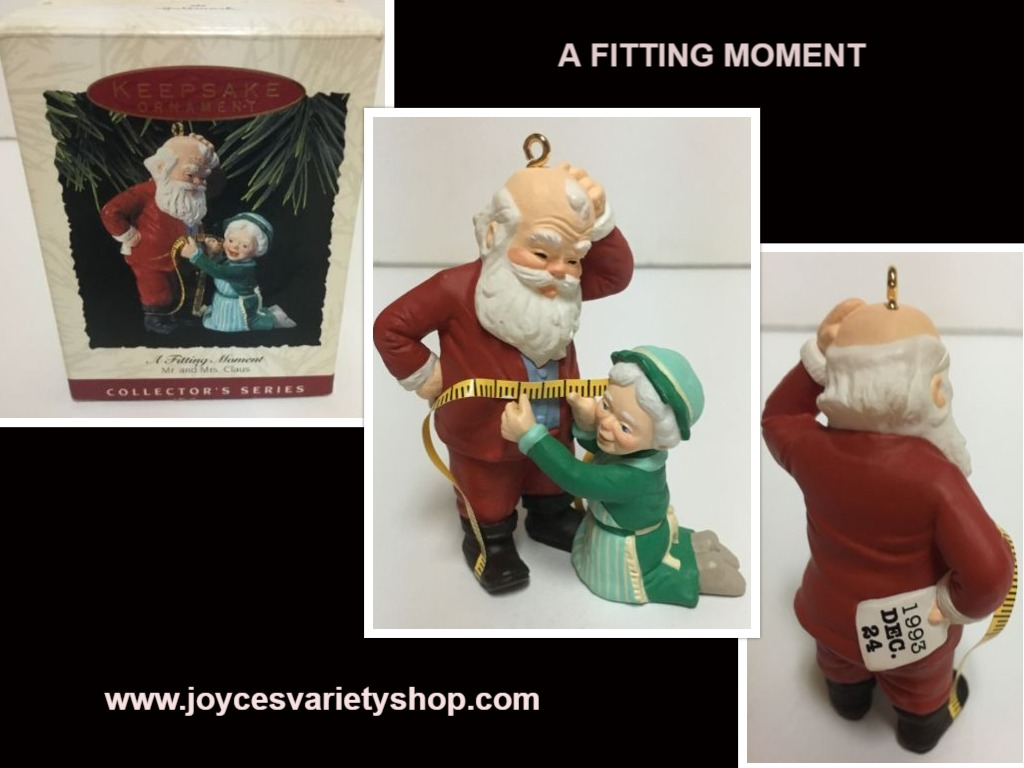 Hallmark 1993 A Fitting Moment Holiday Ornament