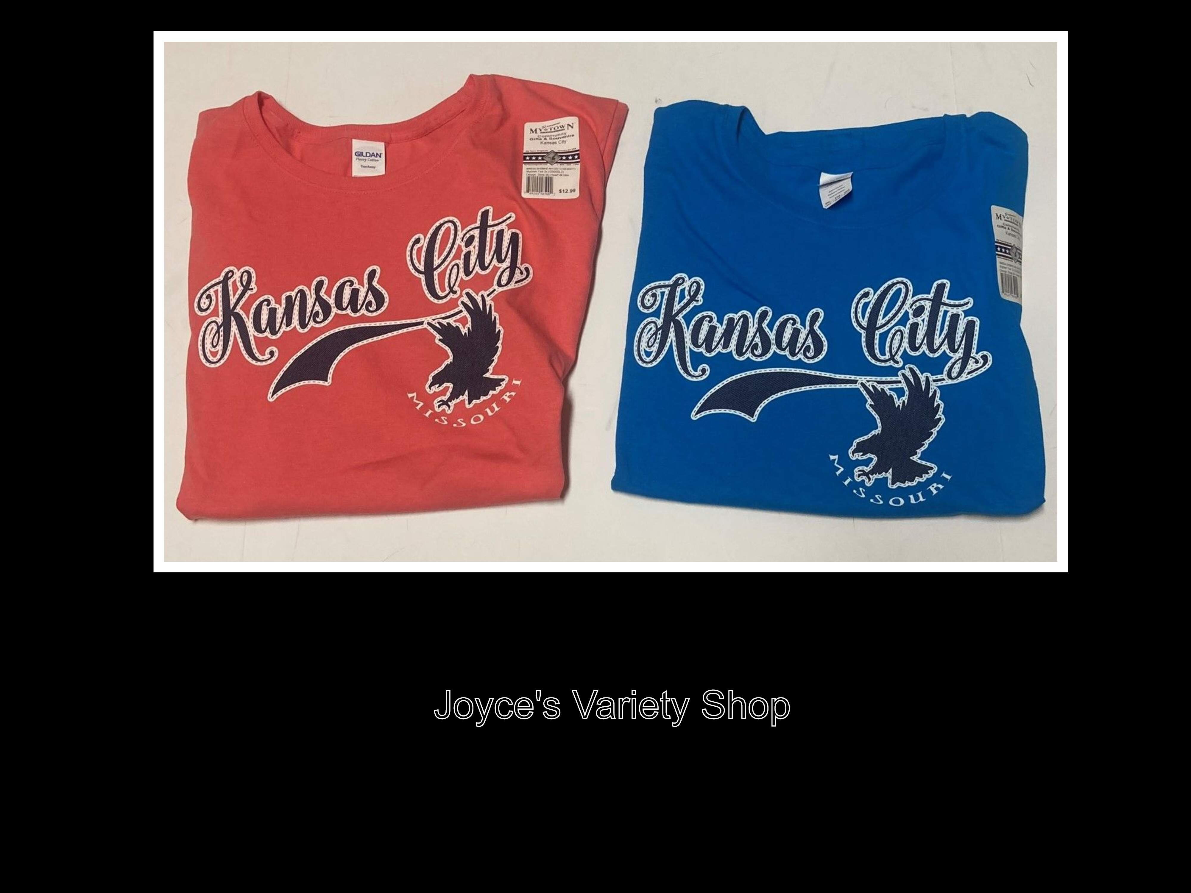 KANSAS CITY MO T-Shirt Ladies Sz 2XL Color Choice Blue or Coral Pink