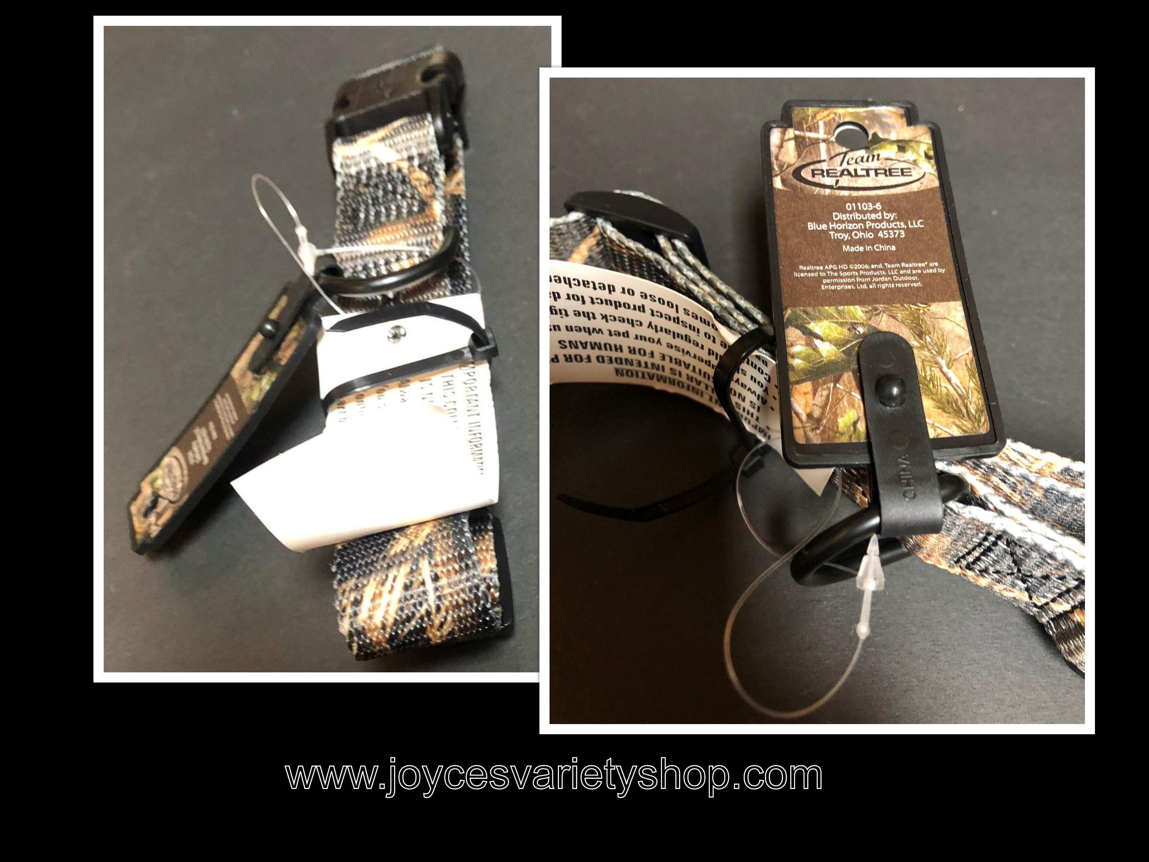 Realtree Adjustable Poly Dog Collar Camouflage Size Large 14-20""
