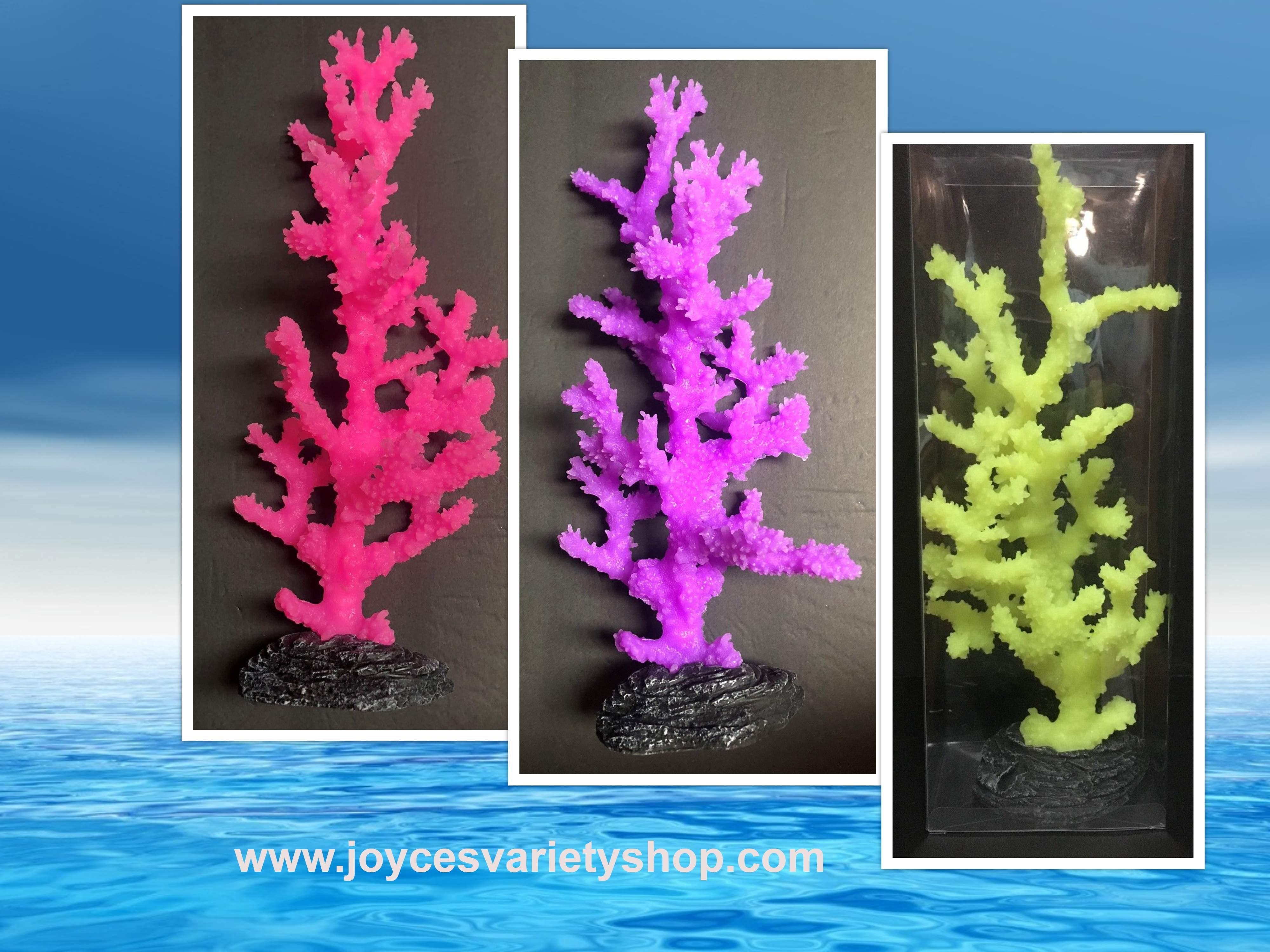 "Sporn Large Sinularia Coral Aquarium Decor 12"" x 4"" Variety of Colors"