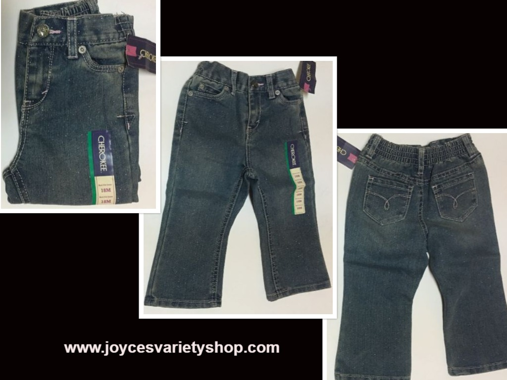 Cherokee Infant Boot Cut Jeans Sz 18 Mo. Sparkles