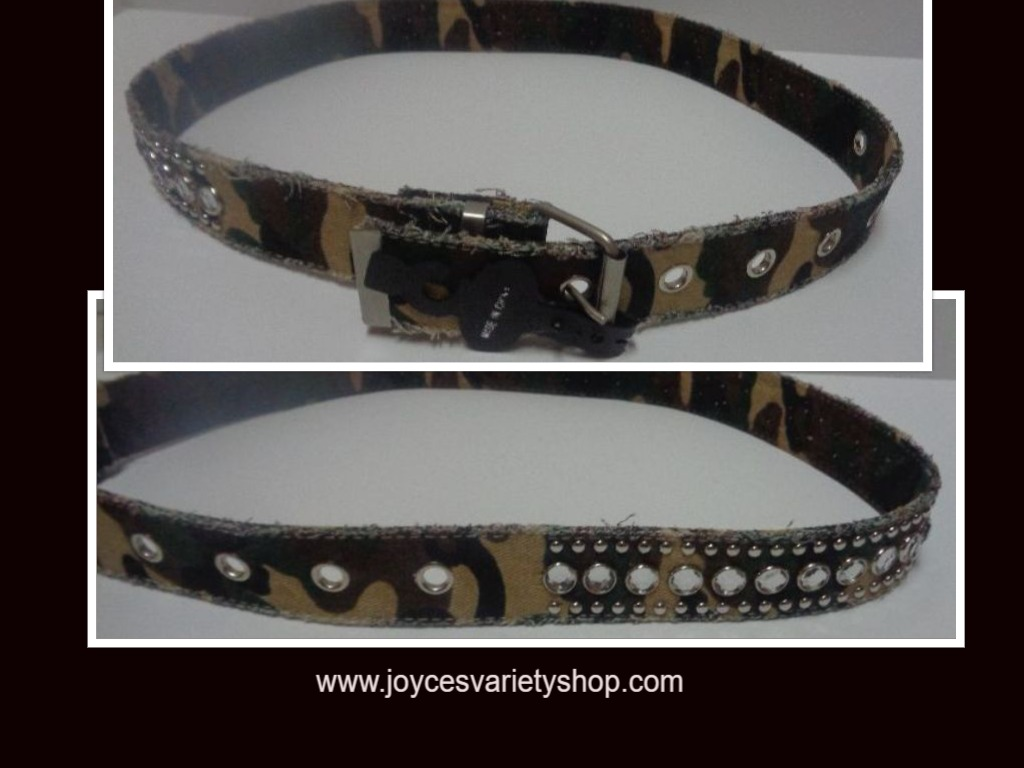 "Women's Camouflage Accented Belt 44"" Adjustable"