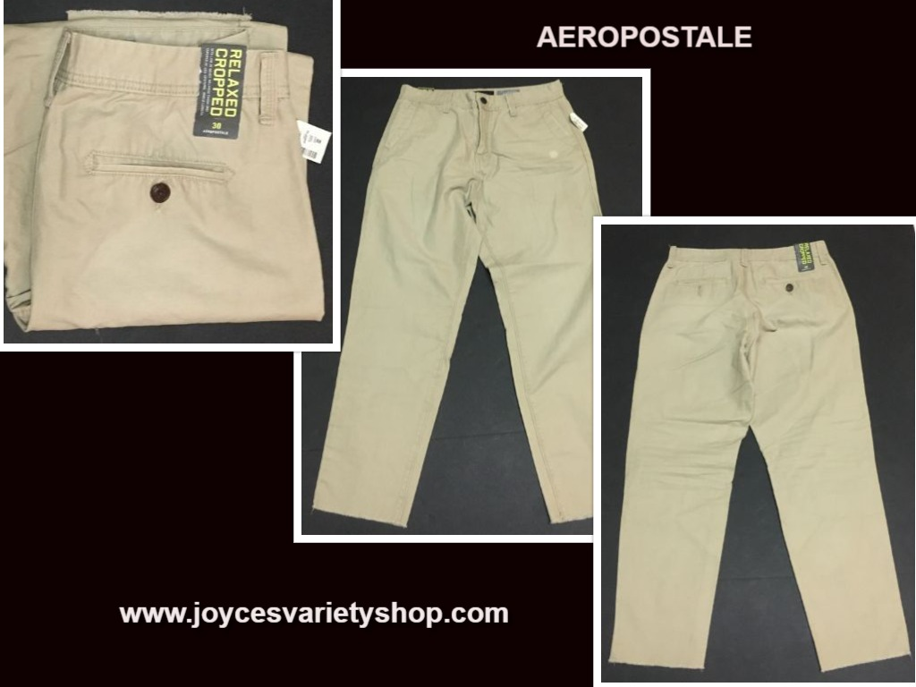 Aeropostale Men's Relaxed Cropped Khaki Pants Jeans SZ 30 x 26
