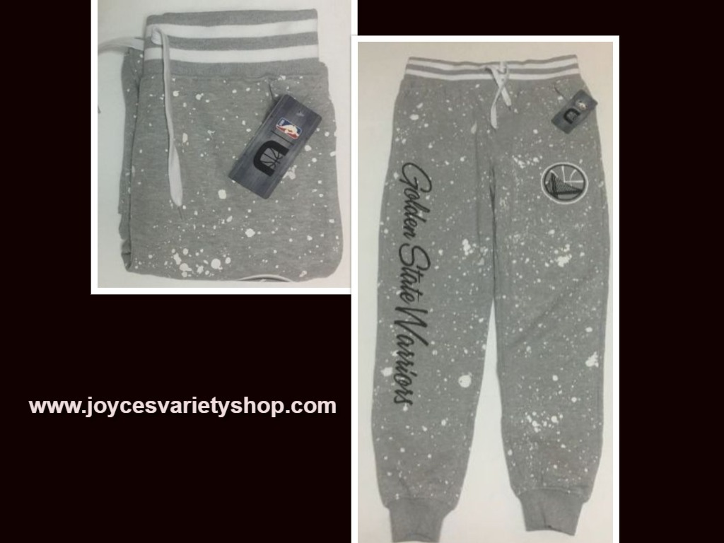 Golden State Warriors Sweatpants Sz S (30/29) Gray Splash NBA