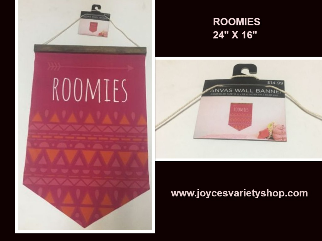 "ROOMIES Canvas Wall Hanging 24"" x 16"" Art Tap"