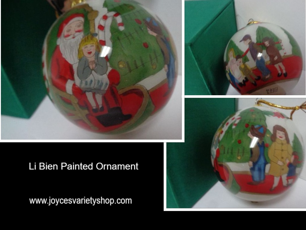 LI BIEN Ornament NIB Inside Painting Tradition 1998 Santa's Lap