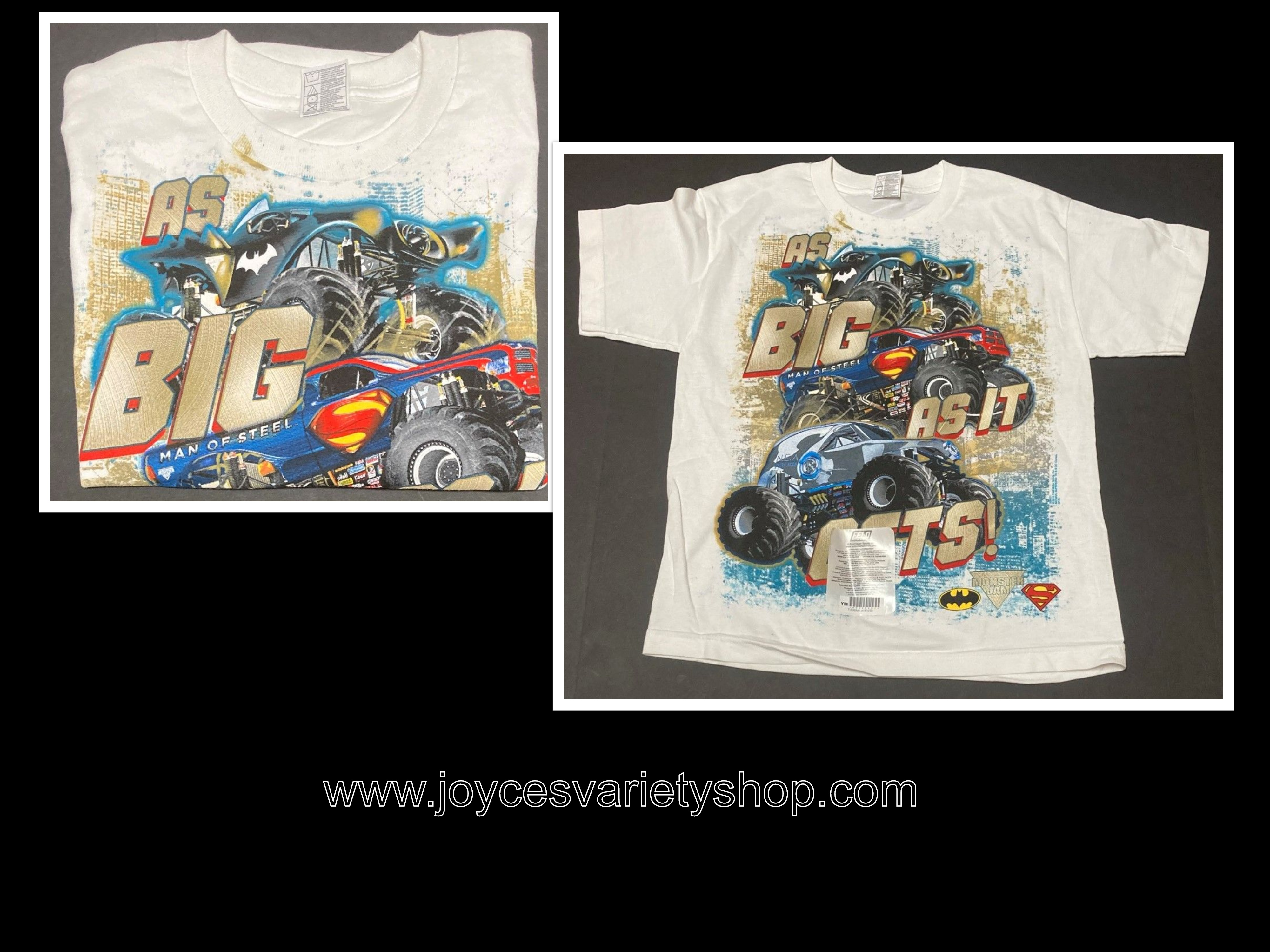 "Monster Jam ""As Big As It Gets"" T-shirt Youth Many Sizes"