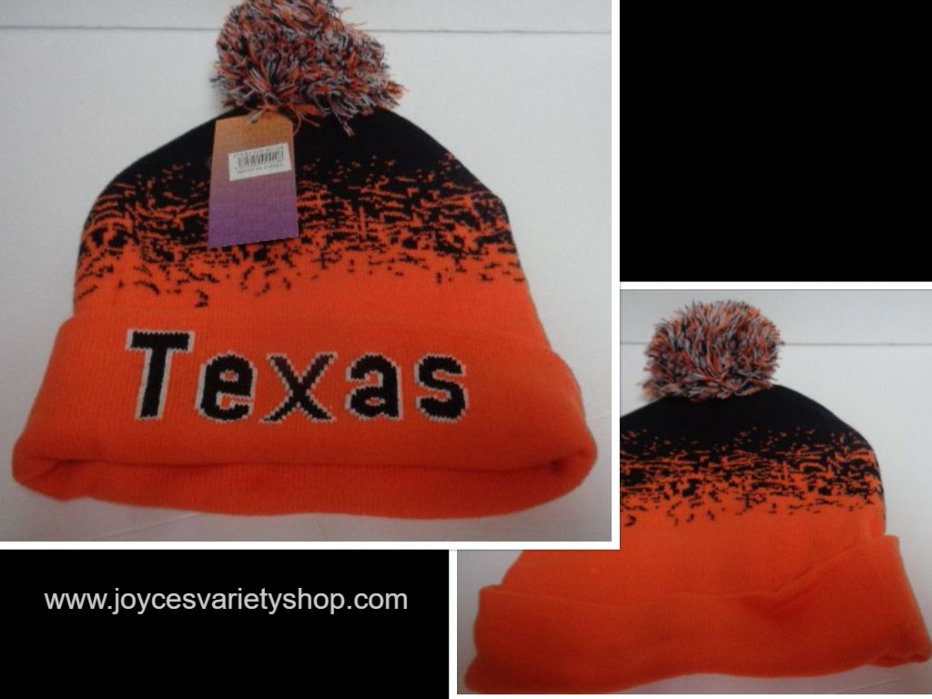 TEXAS Beanie Orange & Black Hat