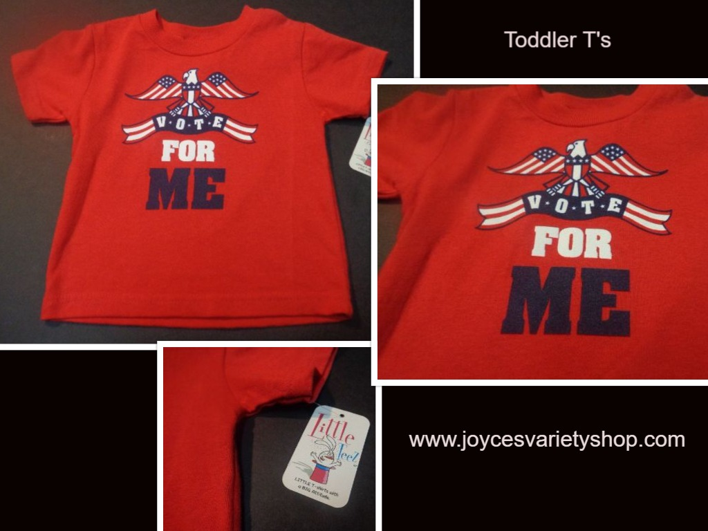 Toddler T-shirt NWT VOTE FOR ME SZ 2T Patriotic