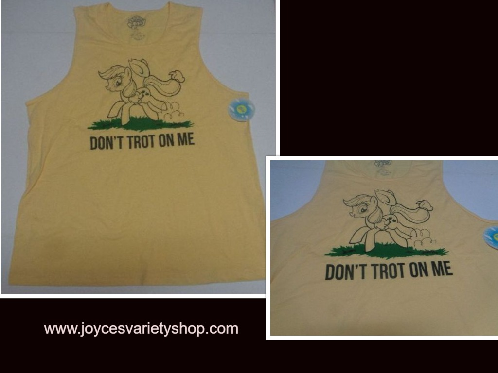 My Little Pony Tank Work Out Muscle Shirt NWT Yellow Apple Jack Adult XXL, XL