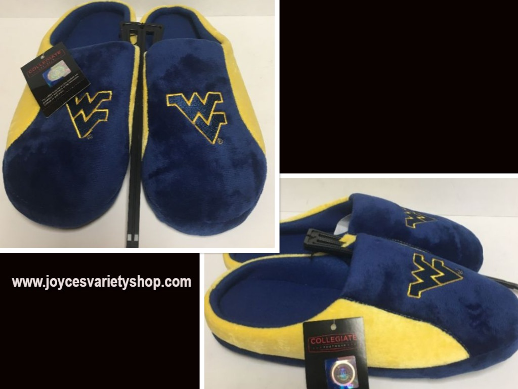 West Virginia Men's Cushion Memory Soles Slippers Shoe Sz L (11-12)