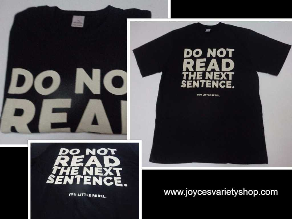 DO NOT READ Black T-Shirt Adult XL