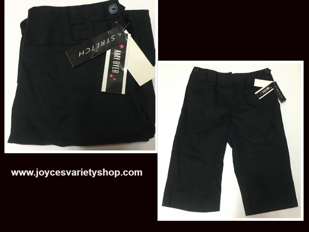 Amy Buyer Stretch Black Capri Youth Sz 12