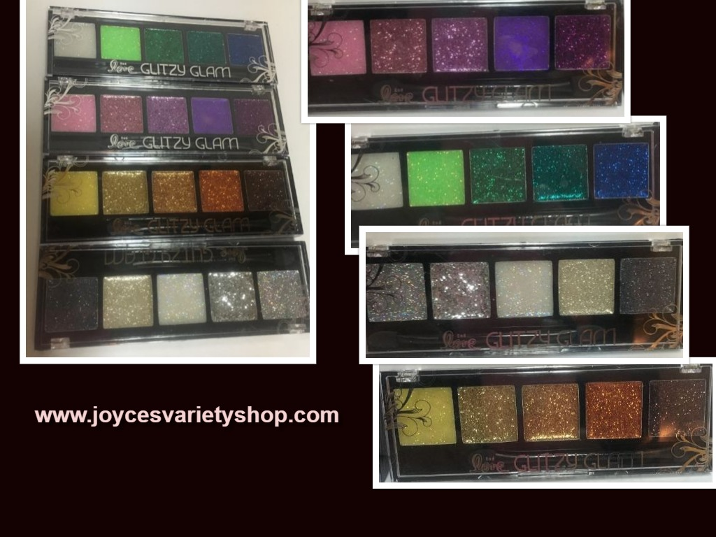 Glitzy Glam Sparkly Eye Shadow Multiple Colors Silver Gold Purple Green