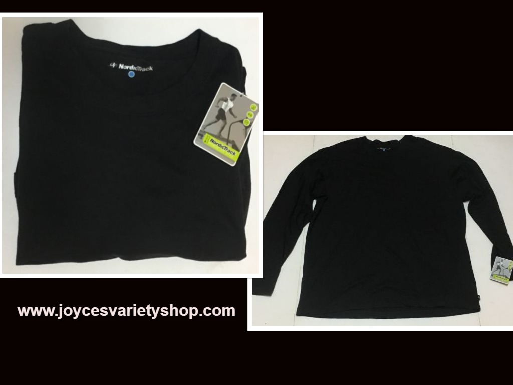 NordicTrack Fitness Black Long Sleeve Men's Shirt NWT Sz 2XL