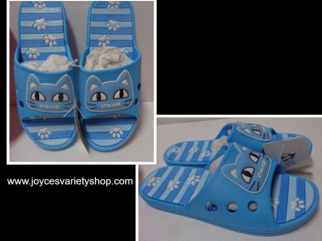 Women's Kitty Cat Sandals Slip On Shoes NWT Sz 6.5 Blue