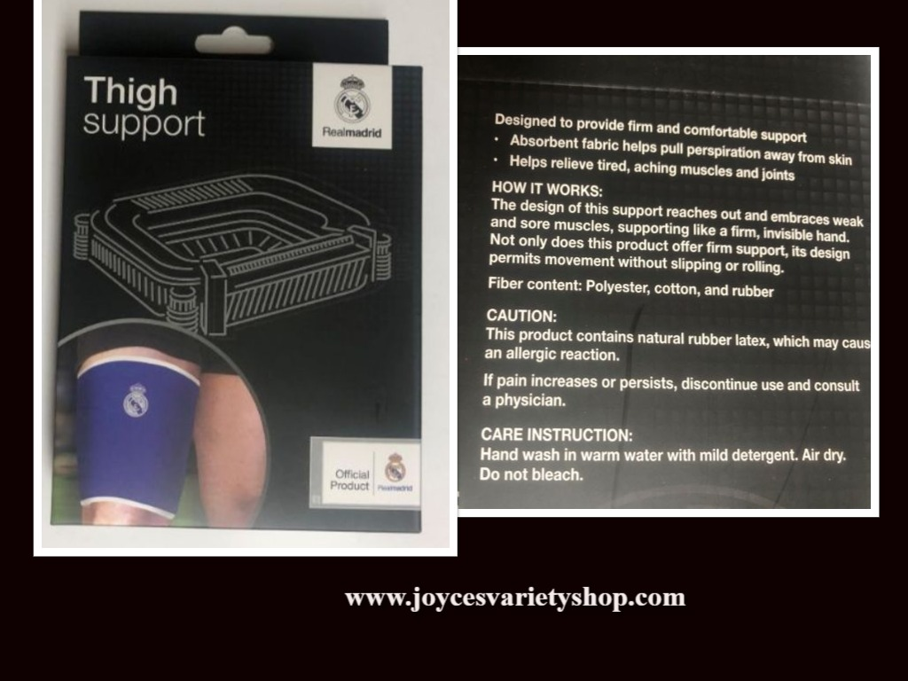 Thigh Athletic Support Pain Relief Non Slip Soccer Sports Realmadrid Brand