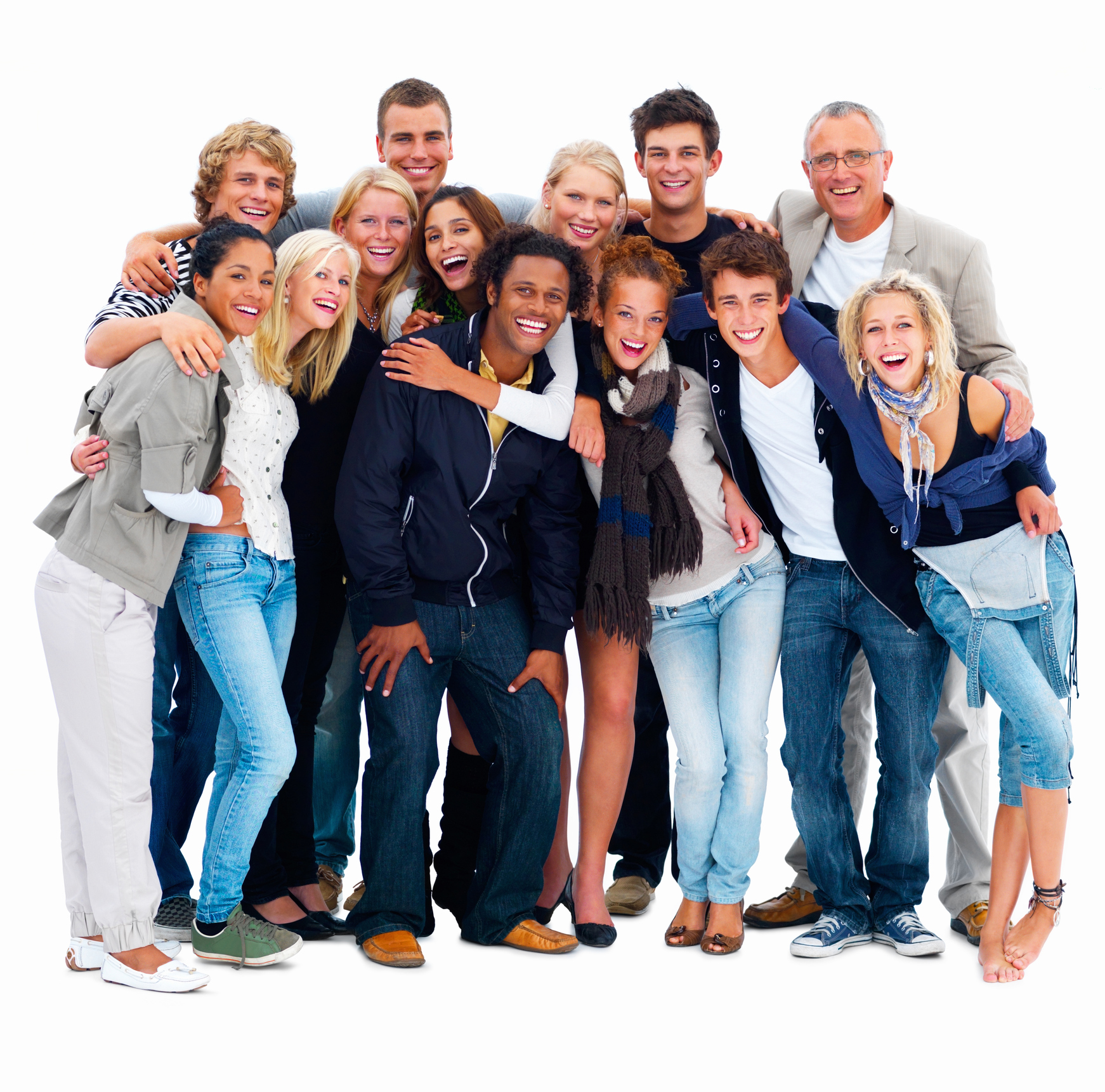happy-young-men-and-women-standing-against-white-backgroundjpg