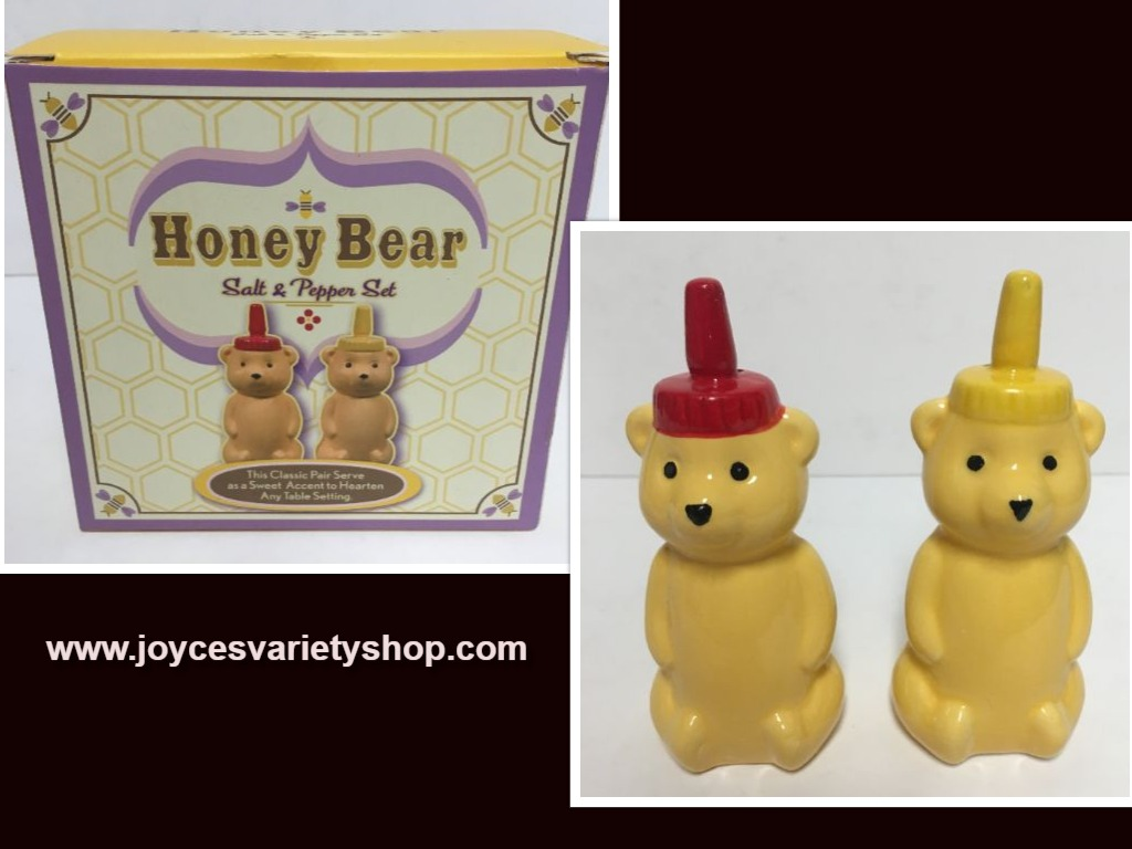 Honey Bear Ceramic Salt & Pepper Shakers