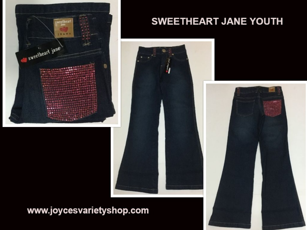 Sweetheart Jane Girl's Jeans Pink Sparkles Sz 10 Youth