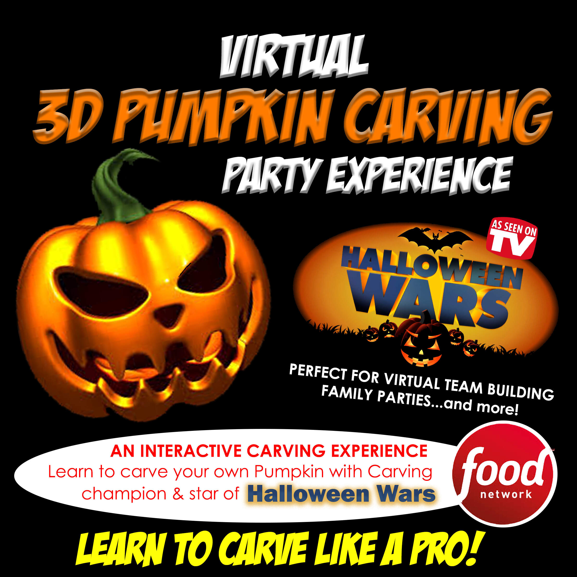 Zoom Halloween Party, Zoom Pumpkin Carving, Halloween Wars, Zoom Pumpkin Carver, Zoom Halloween, Zoom Party Ideas