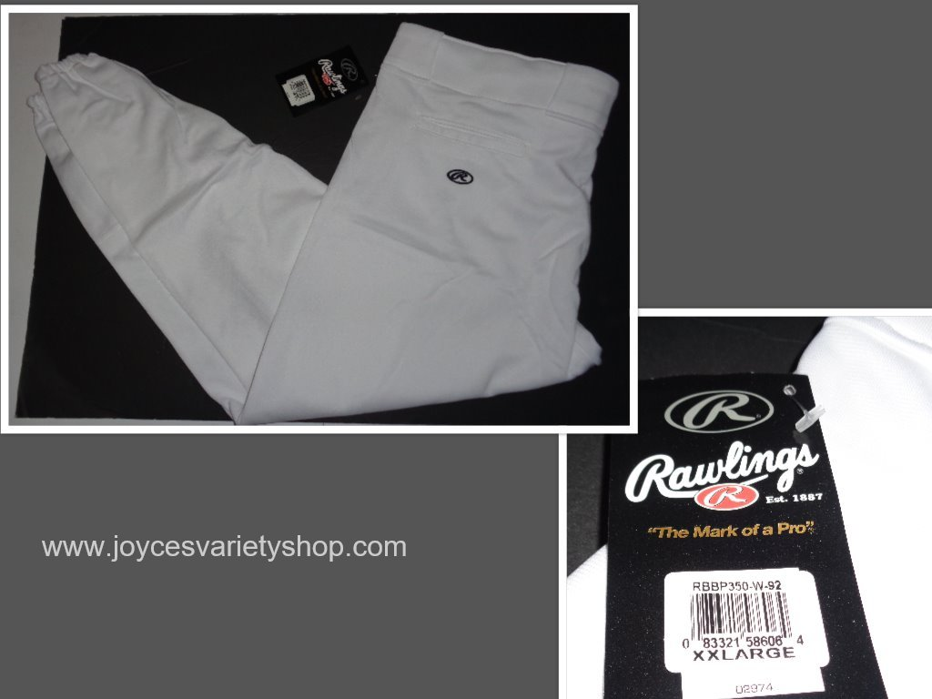 RAWLINGS Adult Baseball Uniform Pants Sz 2XL White