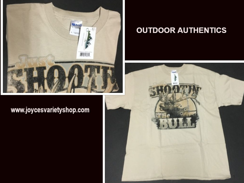SHOOTIN THE BULL TShirt Outdoor Authentics Hunting Various Sizes