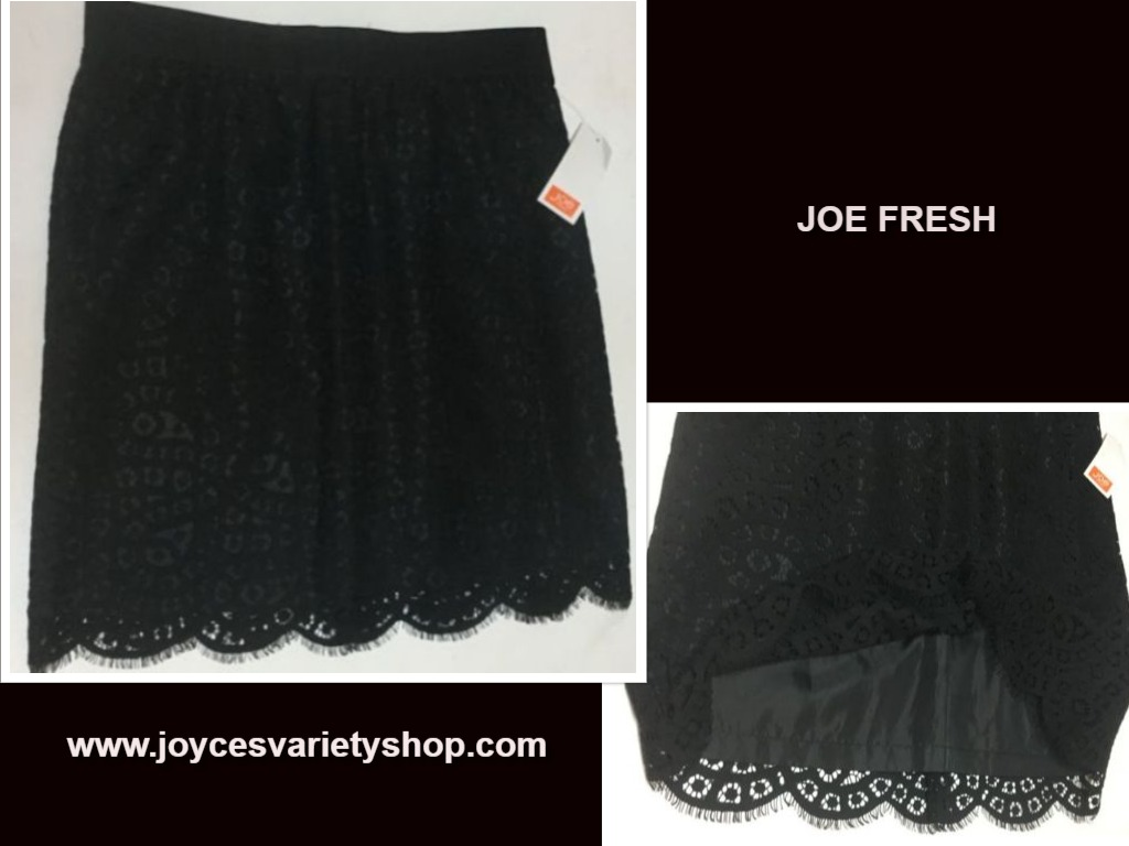oe Fresh Black Lace Skirt NWT SZ 2